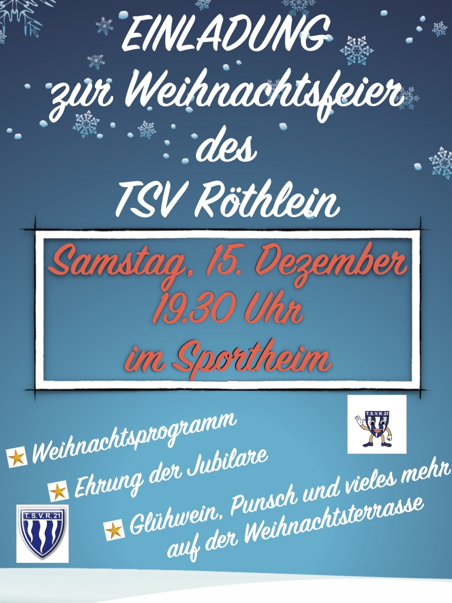 Text Einladung Weihnachtsfeier Verein.Weihnachtsfeier 2018 Sportverein Verein